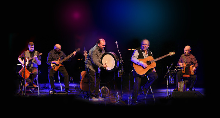 The Fureys perform on stage.