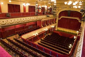 View of the stage and auditorium at City Varieties taken from the right-hand sideBalcony