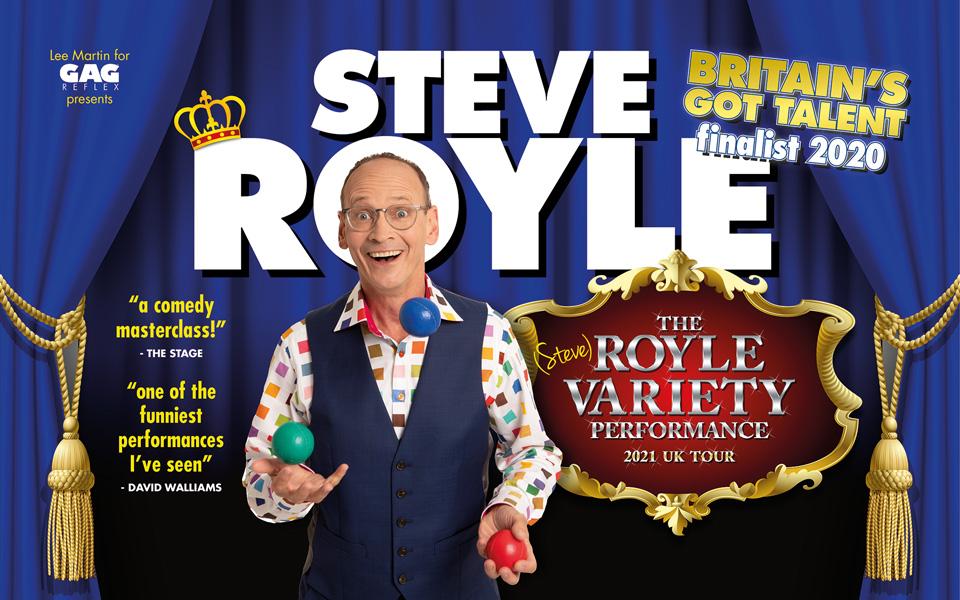 Steve Royle juggles.