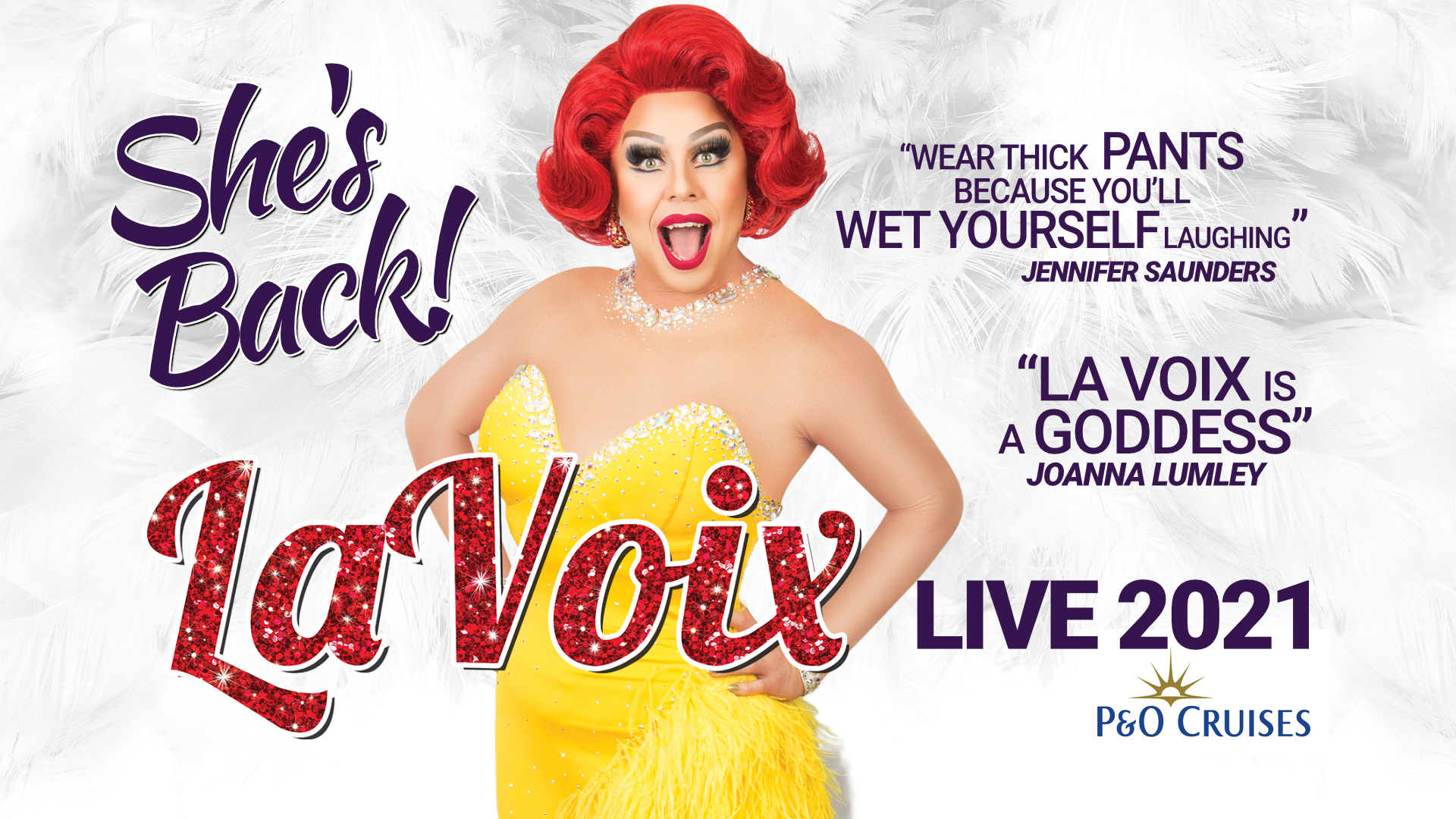 La Voix poses to promote her new tour in 2021