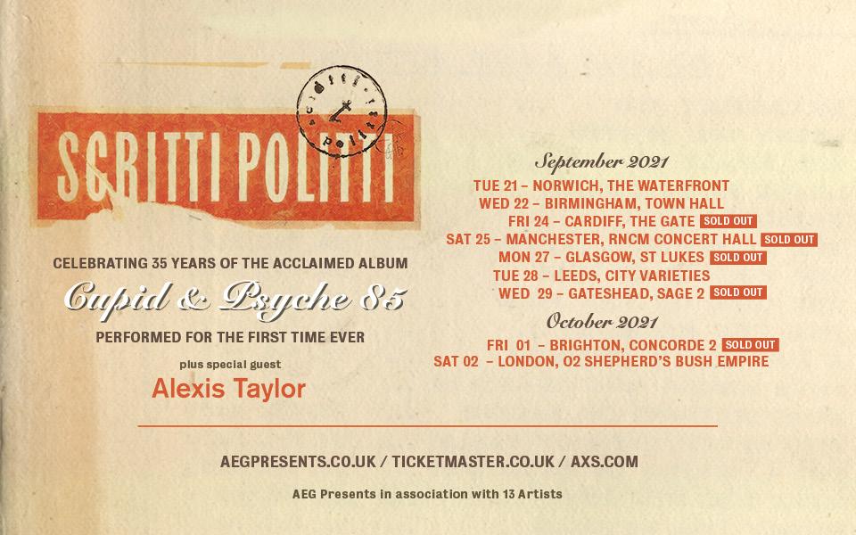A list of Scritti Politti tour dates