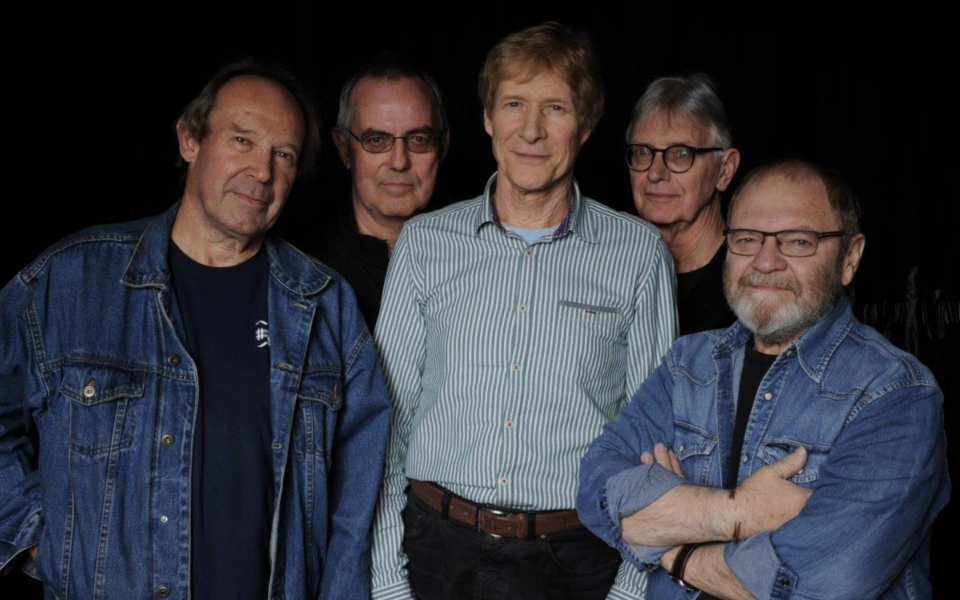 The Blues Band members pose for a photograph