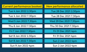 Bedknobs and Broomsticks Date Changes